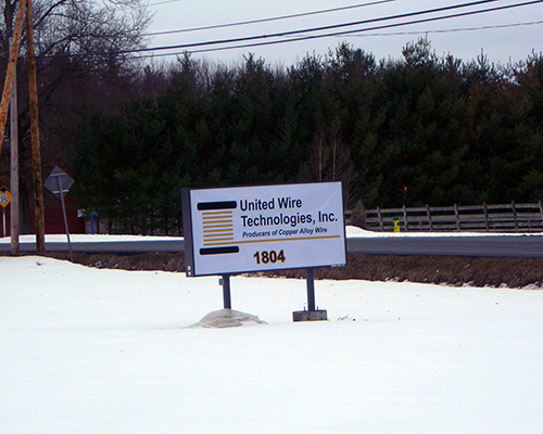 United Wire Technologies sign