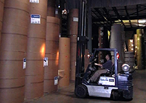 Moving product in Laser Transit warehouse